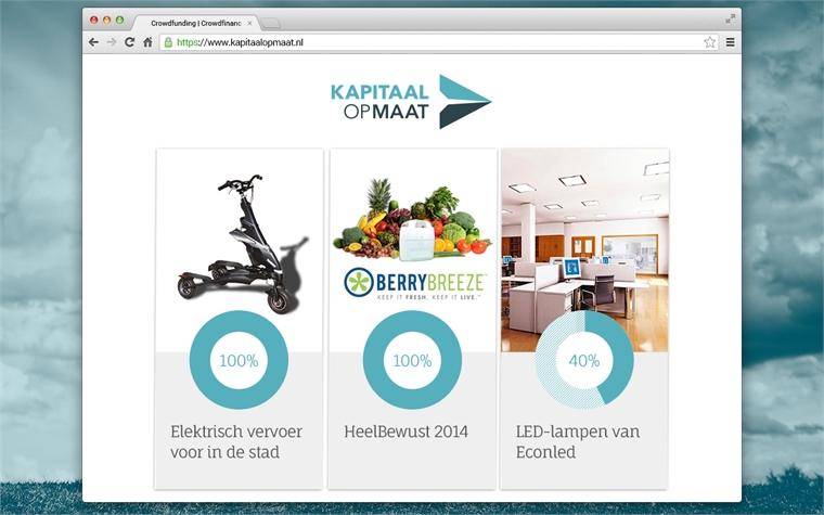 De 1e succesvolle projecten bij Kapitaal Op Maat